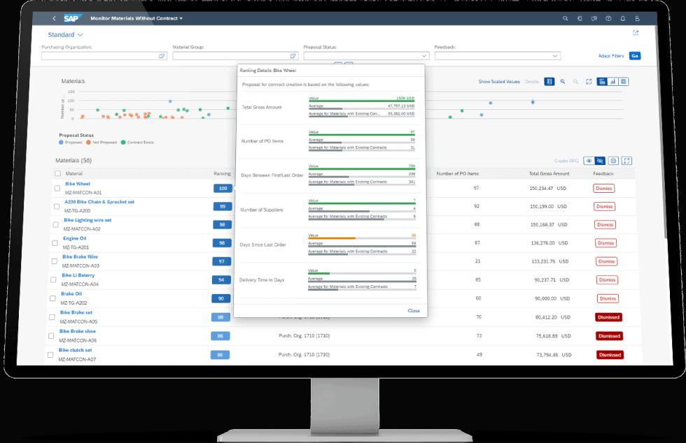 SAP S/4HANA mit SAP Fiori Ansicht auf Desktop