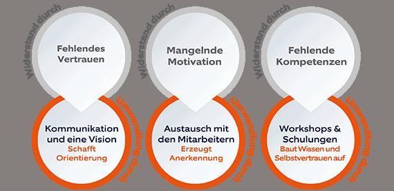 Change Management Transformation Widerstand Grafik